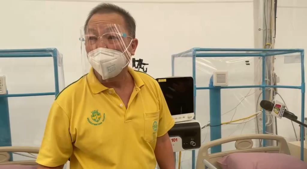 หมอเหรียญทอง เปิด รพ. สนามพลังแผ่นดิน  เผยใช้เวลาสร้างเพียง 12 วัน ระบุรองรับผู้ป่วยอาการหนัก-วิกฤต ได้ถึง 215 เตียง
