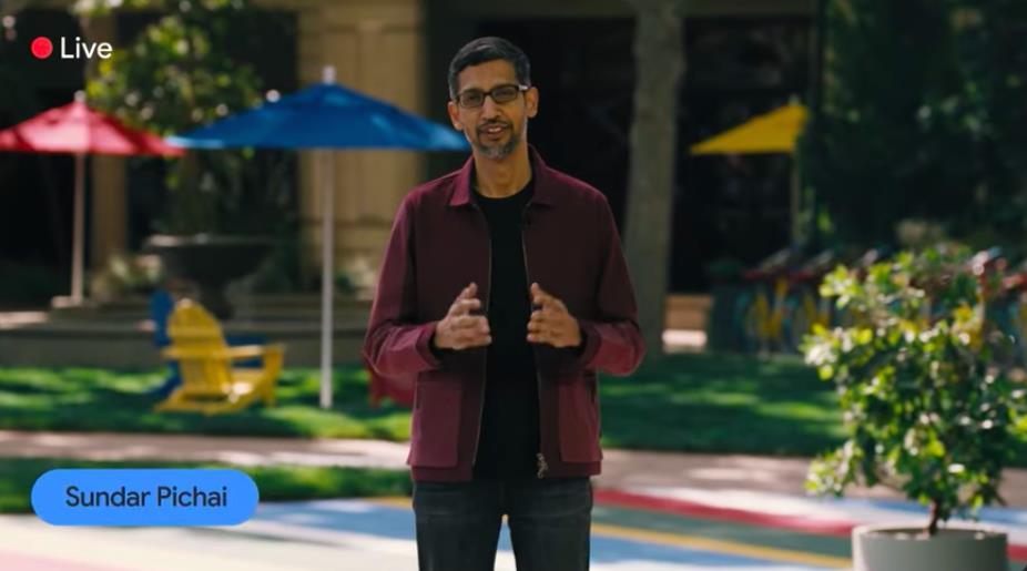 ซุนดาร์ พิชัย ประธานเจ้าหน้าที่บริหาร Alphabet บริษัทแม่ของกูเกิล ในงาน Google I/O 2021