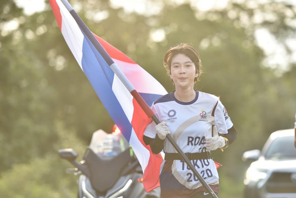 ชาวสระแก้ว ร่วมวิ่งธงชาติไทย ไปโตเกียวโอลิมปิก รวม 53 วัน สะสมระยะทาง 4,102 กม.