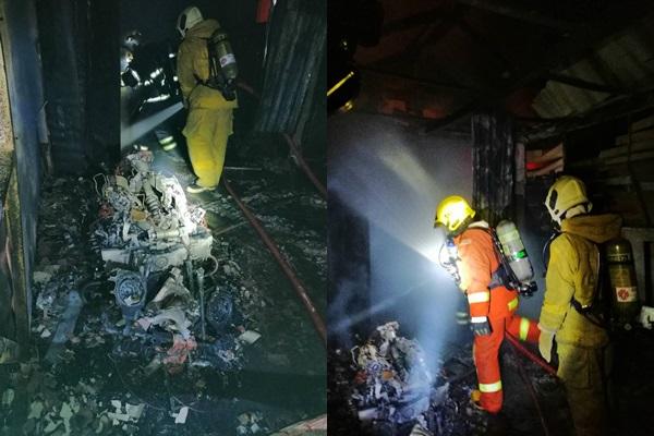 ไฟไหม้บิ๊กไบค์วอดยกโรงรถกลางเมืองเชียงราย เสียหายหลายล้าน