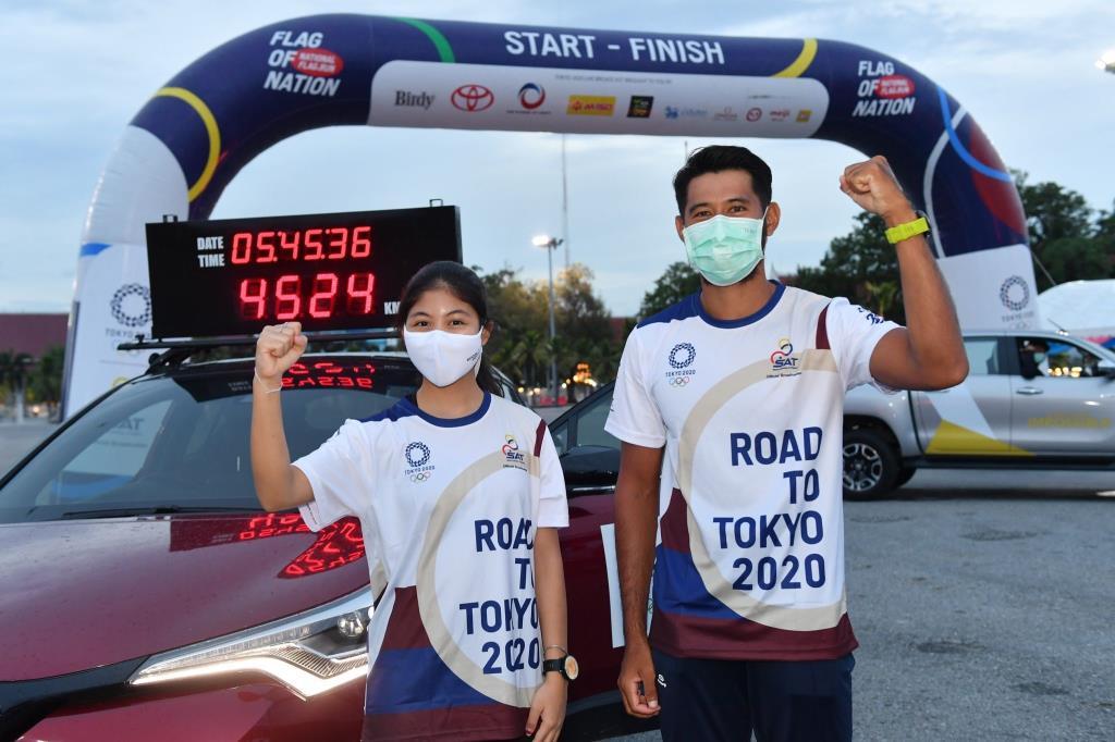 อีกแค่วันเดียว!!! ภารกิจวิ่งส่งธงชาติไทย ไปโตเกียวโอลิมปิก จะพิชิตเส้นชัย