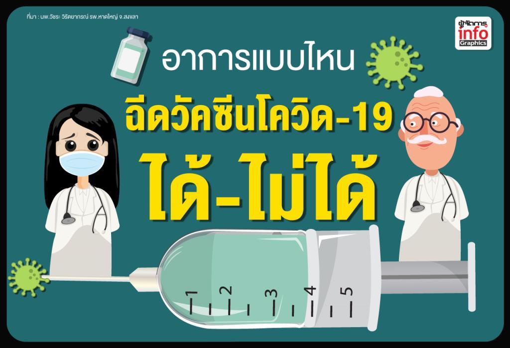 อาการแบบไหน ฉีดวัคซีนโควิด-19 ได้-ไม่ได้