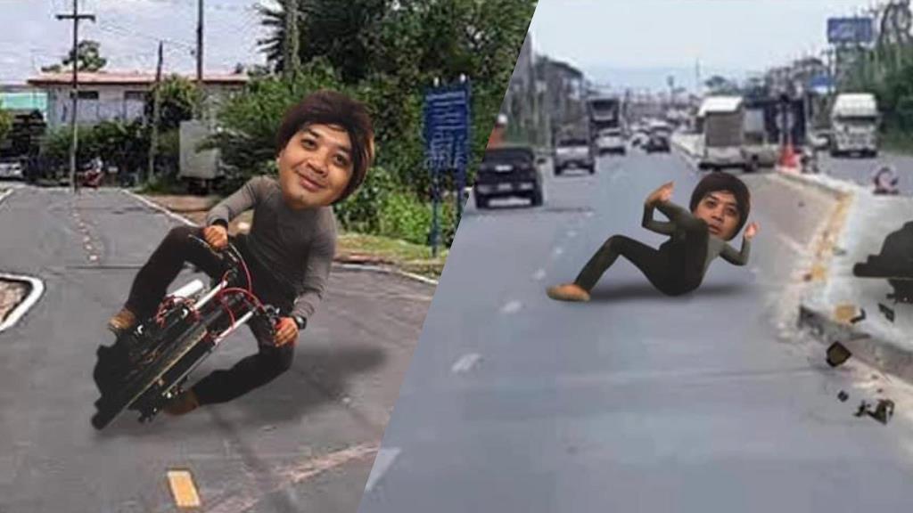 """แซวเก่ง! หมอแล็บโพสต์ภาพล้อเลียน เหตุดรามา """"ถนนคดงอ"""" ในประเทศไทย"""
