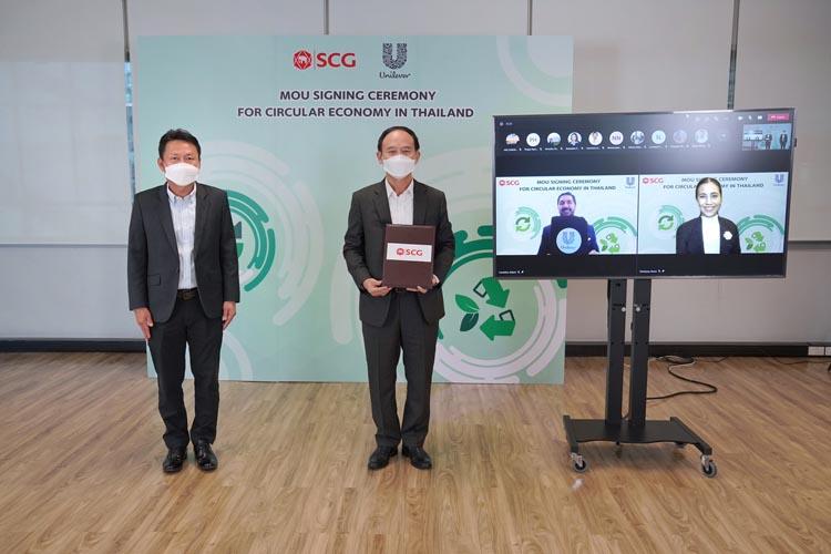 """ยูนิลีเวอร์-เอสซีจี ผนึกกำลังนำประเทศไทยสู่เศรษฐกิจหมุนเวียน """"เปลี่ยนขยะพลาสติกใช้แล้วจากครัวเรือนเป็นพลาสติกรีไซเคิลคุณภาพสูงสำหรับขวดบรรจุภัณฑ์"""" เพื่อสิ่งแวดล้อมที่ยั่งยืน"""
