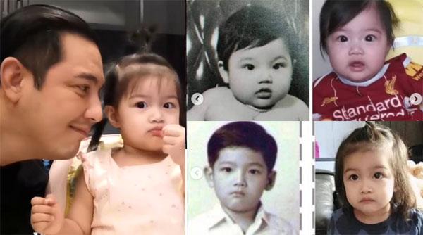 """นี่ไงที่มา DNA บนหน้า""""ศรราม"""" เปิดภาพวัยเด็กเทียบชัดๆ """"น้องวีจิ"""" เหมือนฝาแฝดสุดๆ"""