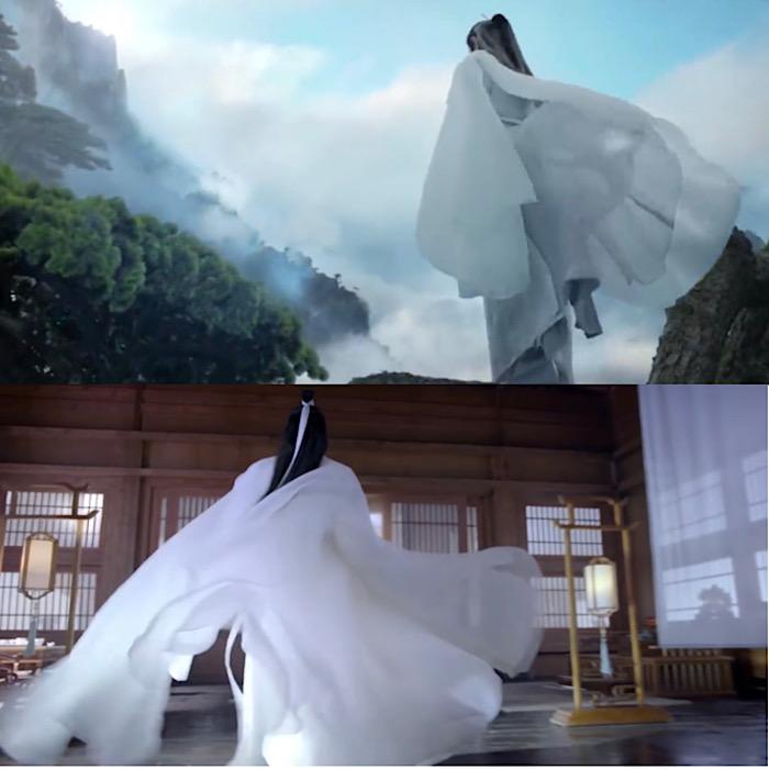 ชุดขาวอันเป็นเอกลักษณ์ของตัวละคร สืออิ่ง
