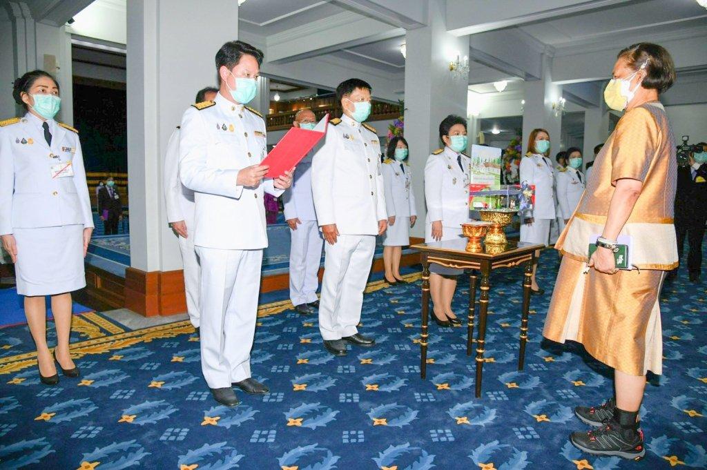 ไปรษณีย์ไทย ทูลเกล้าฯ ถวายเงินสร้างอาคารเรียน ร.ร.ตชด.บ้านห้วยหมากหล่ำ อุดรธานี