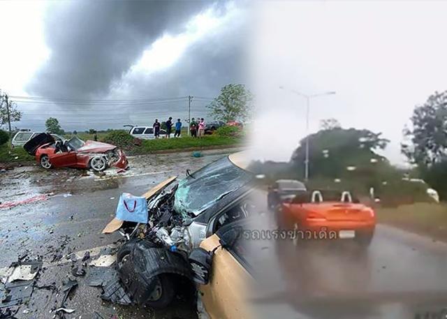 เผยคลิปอุบัติเหตุสลด! หนุ่มใหญ่ซิ่ง BMW พุ่งข้ามเกาะกลางชนเก๋ง เสียชีวิต 3 ศพ