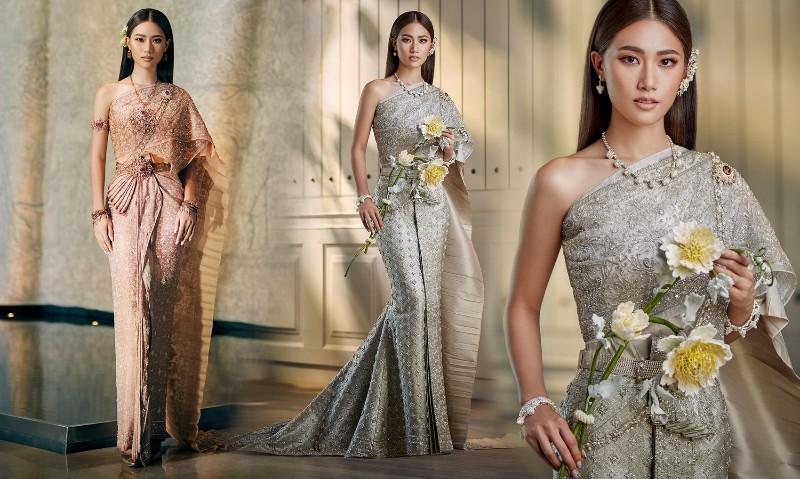 ชนม์ทิดา อัศวเหม กับแฟชั่นชุดไทยพระราชนิยมสุดหรู