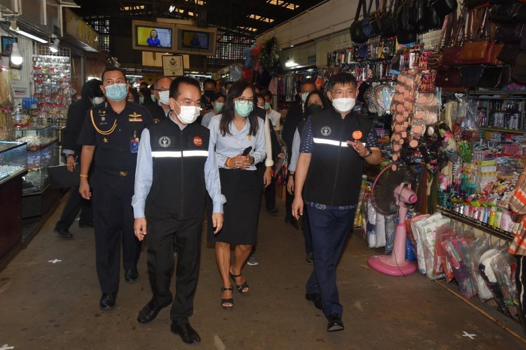กทม. ตรวจตลาดย่านมีนบุรี บ้านผู้สูงอายุย่านคลองสามวา กำชับมาตรการเฝ้าระวังการแพร่ระบาดโควิด-19