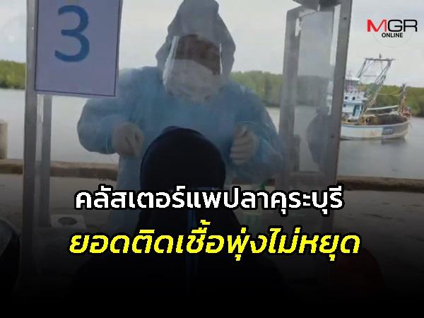 """""""คลัสเตอร์แพปลาคุระบุรี"""" ยอดติดเชื้อพุ่งไม่หยุด พบแรงงานพม่าติดเชื้อเพิ่มอีก 27 ราย"""