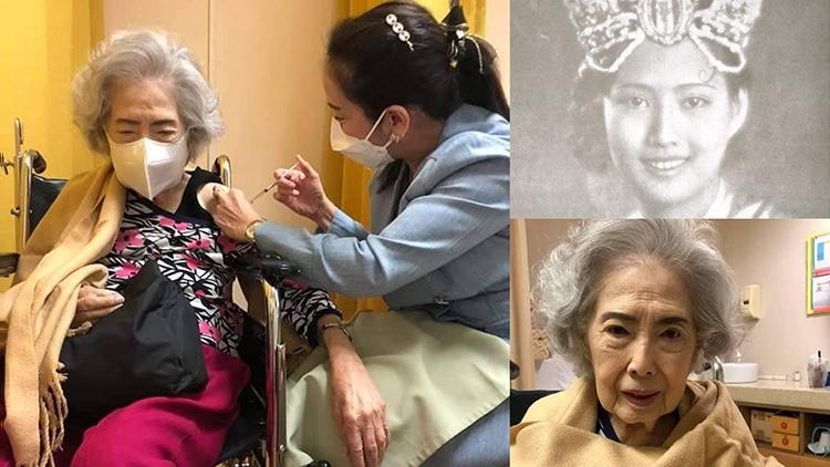 """""""วณี เลาหเกียรติ"""" นางสาวสยามคนที่ 2 วัย 100 ปี ฉีดวัคซีนโควิดฯ"""