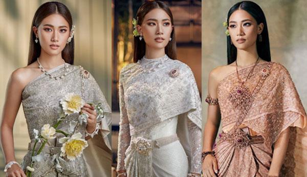 """""""เพลง ชนม์ทิดา"""" อวดโฉมลุคใหม่กับแฟชั่นชุดไทยพระราชนิยมสุดหรูครั้งแรก"""