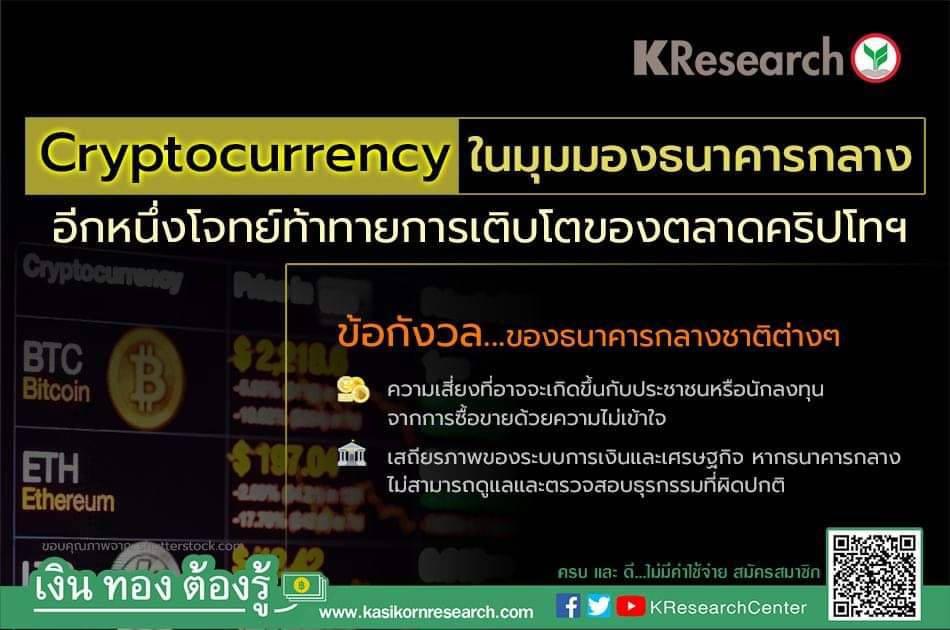 โจทย์ท้าทาย Cryptocurrency ในมุมมองธนาคารกลาง