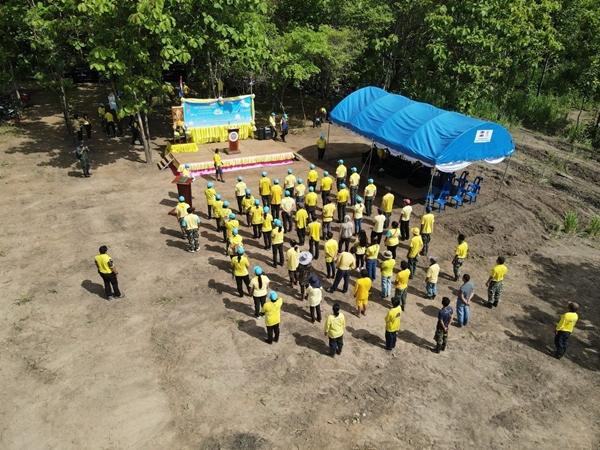 """อช.ไทรโยค ร่วมกับ อ.ไทรโยค ผู้นำชุมชน และจิตอาสา  จัดกิจกรรมโครงการ""""ปลูกป่าและป้องกันไฟป่า"""""""