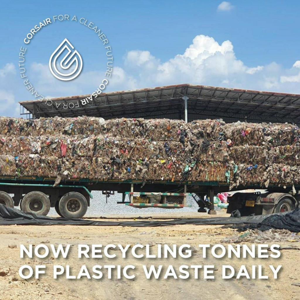 """โควิดดันขยะพลาสติกพุ่ง """"คอร์สแอร์""""ผุด""""ไพโรไลซิส"""" แปลงขยะพลาสติกเป็นน้ำมันชีวภาพ"""