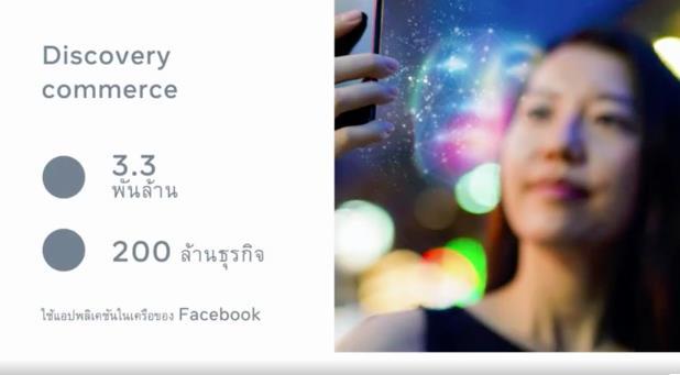 เทรนด์ Discovery Commerce นั้นรับกับสิ่งที่เฟซบุ๊กทำมาตลอด นั่นคือการสร้างประสบการณ์ชอปปิ้งใหม่ให้ผู้คนค้นพบสินค้าได้ง่ายขึ้น