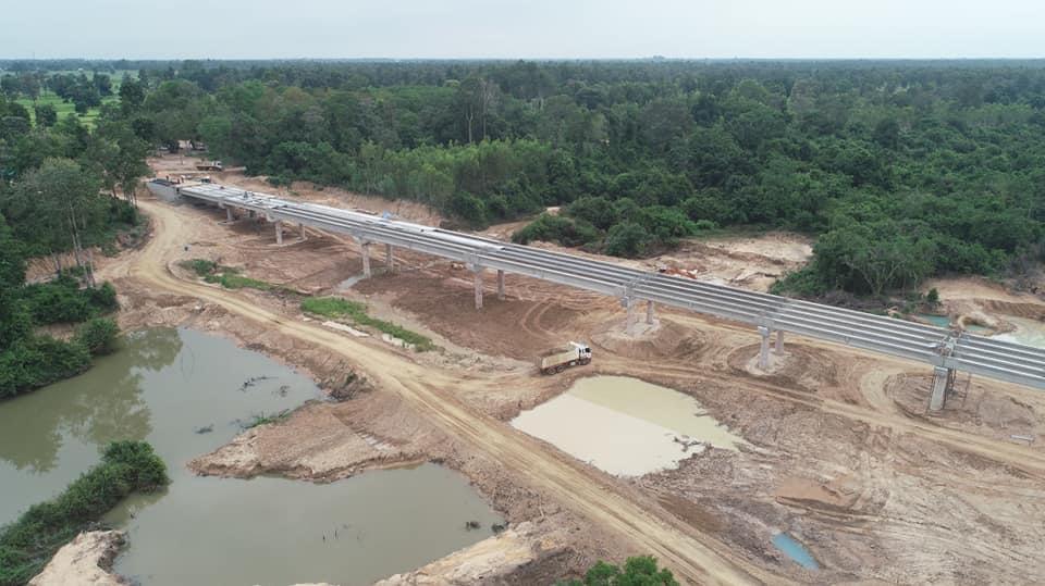 สะพานข้ามลำชีคืบ 63% เสร็จปีนี้ ร่นระยะทาง 21 กม.เชื่อม จ.สุรินทร์-จ.บุรีรัมย์