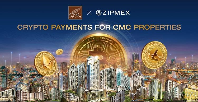 CMCจับมือZipmexรุกตลาดคริปโทฯเปิดซื้อขายคอนโด-บ้าน รับทุกสกุลเหรียญกับทุกโครงการ