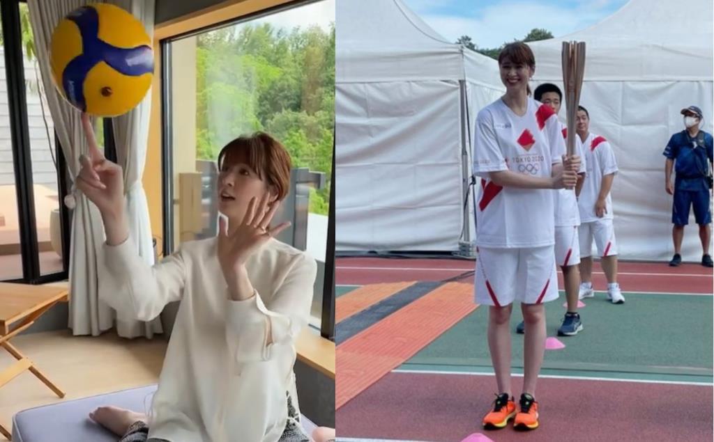 """น่ารักเหมือนเดิม!! นางฟ้าลูกยาง """"ซาโอริ คิมูระ"""" วิ่งคบเพลิงโอลิมปิก"""