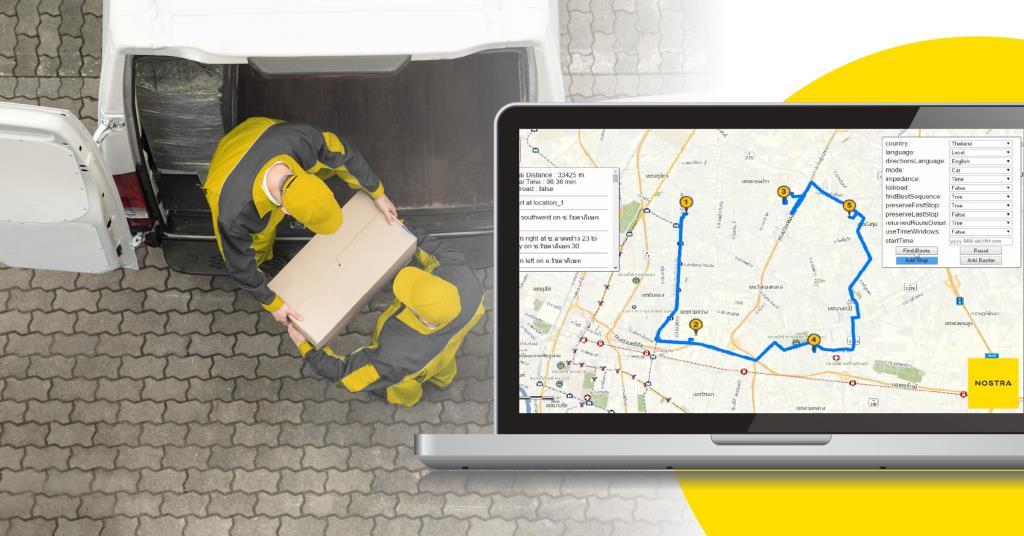 NOSTRA จุดพลุ Online Map Service เสริมแกร่งธุรกิจขนส่ง-โลจิสติกส์ไทย