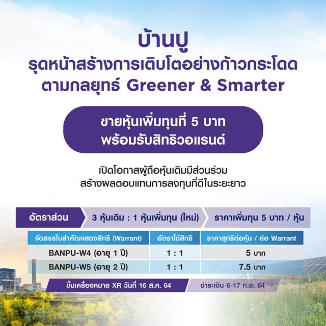 BANPU ปรับแผนเพิ่มทุน ยกเลิกออก BANPU-W6