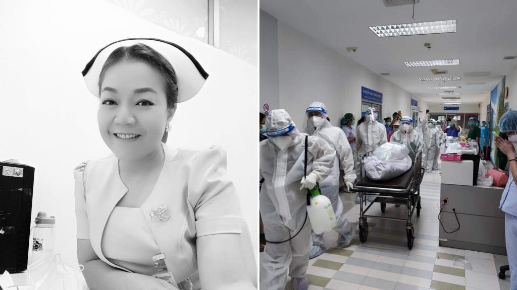 สุดเศร้า! เพื่อนร่วมวิชาชีพร่วมอาลัยนางฟ้าชุดขาว พยาบาลสาวด่านหน้า เสียชีวิตจากโควิด 19