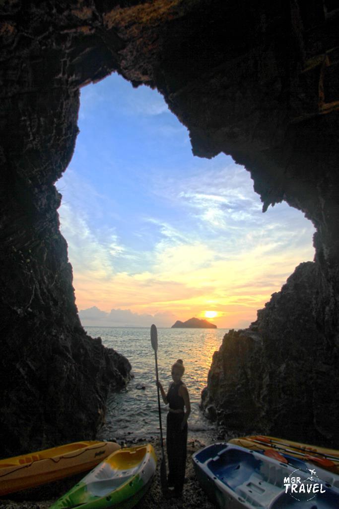 จุดชมพระอาทิตย์ตกจากเกาะแตในมองไปเห็นเกาะแตนอก