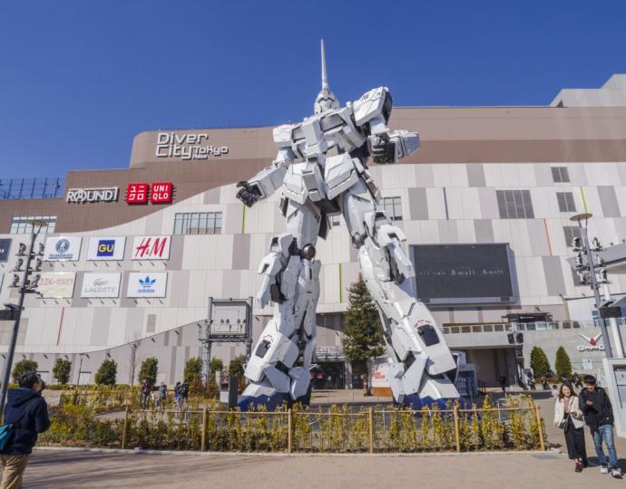 หุ่นยนต์กันดั้มแห่งโอไดบะ (ภาพจาก www.gotokyo.org)