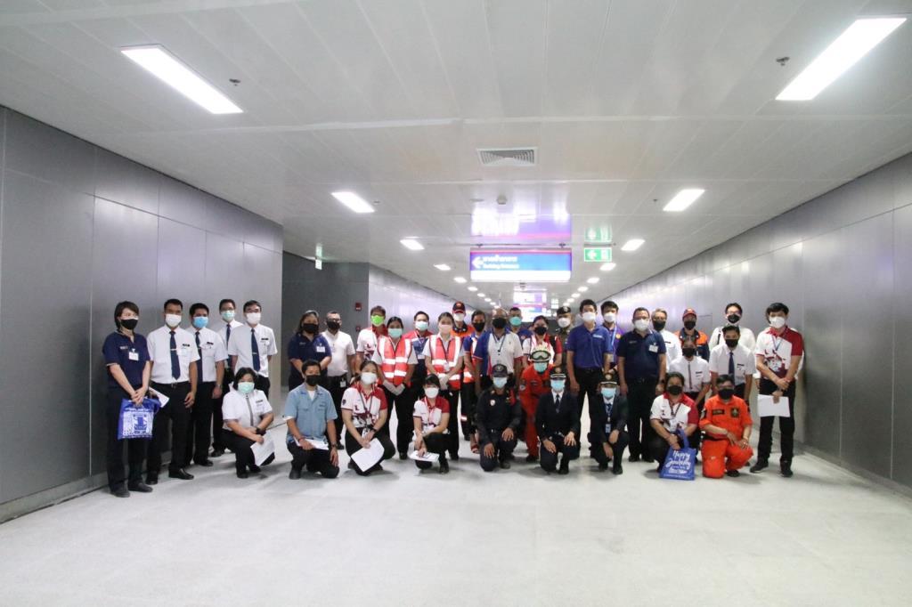 แอร์พอร์ต เรล ลิงก์-BEM ร่วมฝึกซ้อมการจัดการเหตุ อุโมงค์ทางเชื่อมต่อสถานี MRT สีน้ำเงินกับ สถานีกลางบางซื่อ