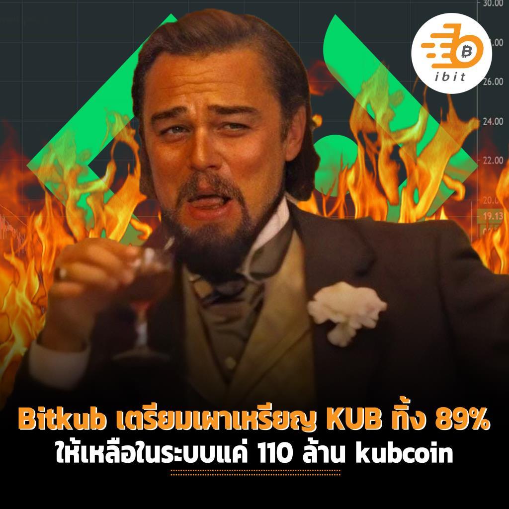 Bitkub เตรียมเผา่เหรียญ KUB ทิ้ง 89% ให้เหลือในระบบแค่ 110 ล้าน kubcoin