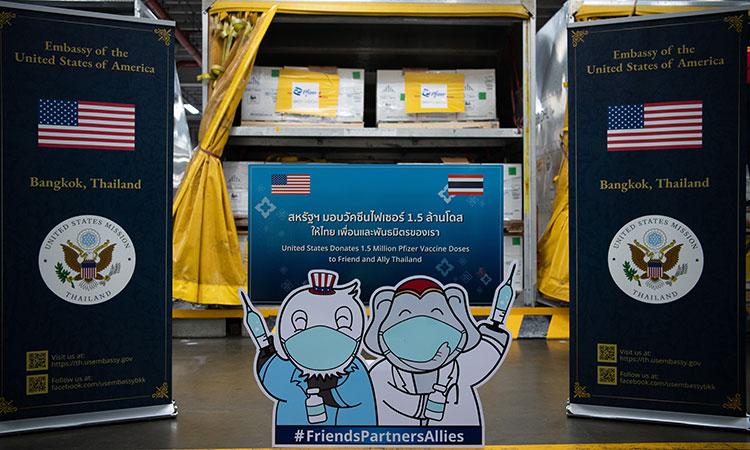 """สถานทูตคลายสงสัยตัวเลข """"วัคซีนไฟเซอร์"""" 1,503,450 โดส หลังสหรัฐฯ บริจาคให้ไทย"""