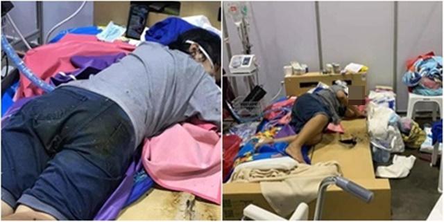 สุดเศร้า! เผยภาพ รพ.บุษราคัมเตียงกระดาษชำรุดทรุดโทรม ผู้ป่วยดับคาเตียงหลังลูกชายโทร.แจ้ง จนท.100 สายไม่มีใครรับ