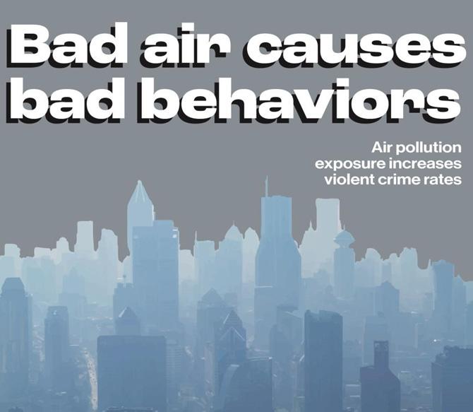 PM2.5 กับการแสดงออกทางพฤติกรรมและการก่ออาชญากรรม
