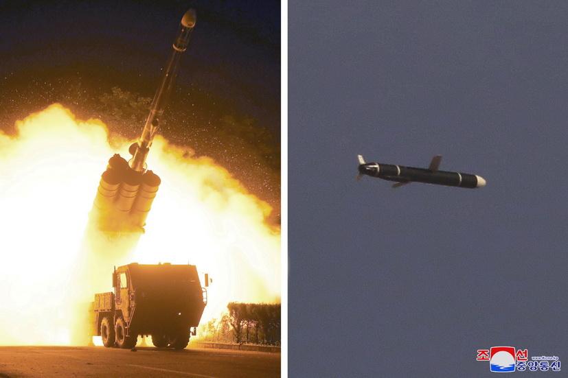 ขีปนาวุธร่อนพิสัยไกลรุ่นใหม่ ที่เกาหลีเหนือนำมายิงทดสอบเมื่อช่วงสุดสัปดาห์ที่ผ่านมา ตามรายงานของสำนักข่าว KCNA ในเช้าวันจันทร์ (13 ก.ย.)