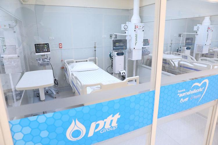 พร้อมดูแล! ICU สนาม ใหญ่ที่สุดในประเทศ โดยโครงการลมหายใจเดียวกัน กลุ่ม ปตท.
