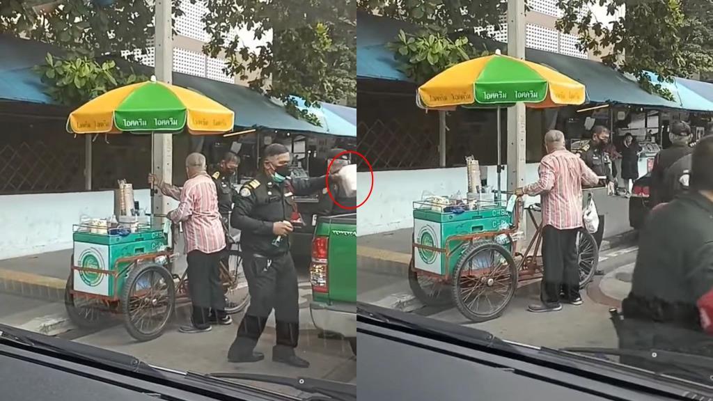 สะเทือนใจ! เทศกิจยึดอุปกรณ์ทำมาหากินลุงปั่นสามล้อขายไอศกรีม ล่าสุดสำนักงานเขตดินแดงโร่ชี้แจง