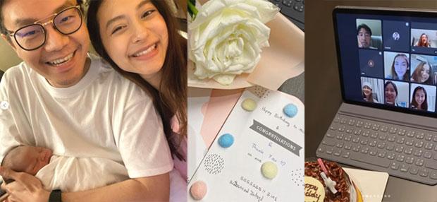 """สมบูรณ์แบบ """"มิว นิษฐา"""" ได้ลูกสาวเป็นของขวัญวันเกิดรับอายุ 31 ไฮโซเซนต์มอบดอกไม้พร้อมบอกขอบคุณที่เข้ามาในชีวิต"""
