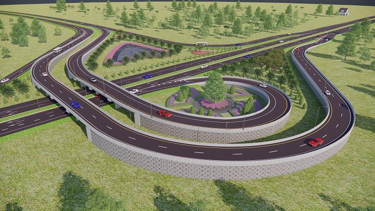 เปิดแบบทางเลี่ยงเมือง อ.สว่างแดนดิน จ.สกลนคร งบ 1.5พันล. ยาว 14 กมพร้อมสะพาน 8 จุดตัด เริ่มสร้างปี67
