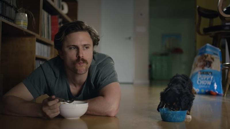 โฆษณาอาหารสำหรับน้อนขนฟูวัยอนุบาล แบรนด์ Puppy Chow บริษัท Puppyhood นำแสดงโดยเจ้าตัวเล็กหน้าตาฉลาดเป็นกรด ไม่กลัวใคร และพร้อมจะดื้อเกินเบอร์ ขณะที่ผู้เป็นเจ้าของซึ่งไปอุ้มนางมาจากกรงแจกลูกหมาฟรี ก็รัก เมตตา ใจดีต่อนางอย่างที่สุด เพราะหัวใจทั้งดวงต่อติดกับน้อนได้เต็มร้อย ความโดดเด่นของเจ้าตัวเล็กคือ อาการตั้งอกตั้งใจกินอาหารของ Puppy Chow อย่างเอาจริงเอาจัง ทำให้ทึ่งว่าของในชามจิ๋วๆ ใบนี้คงจะอร่อยขั้นสุด ทั้งนี้ แม้การโฆษณาด้วยถุงอาหารติดยี่ห้อใหญ่โตชัดเจน จะดูเหมือนโฉ่งฉ่างไปบ้าง  แต่ความน่ารักของเจ้าตัวเล็กทำให้บรรยากาศของหนังโฆษณาชุดนี้ราบรื่นตลอด 3 นาที ชมเต็มๆ ที่นี่ https://www.youtube.com/watch?v=L3MtFGWRXAA