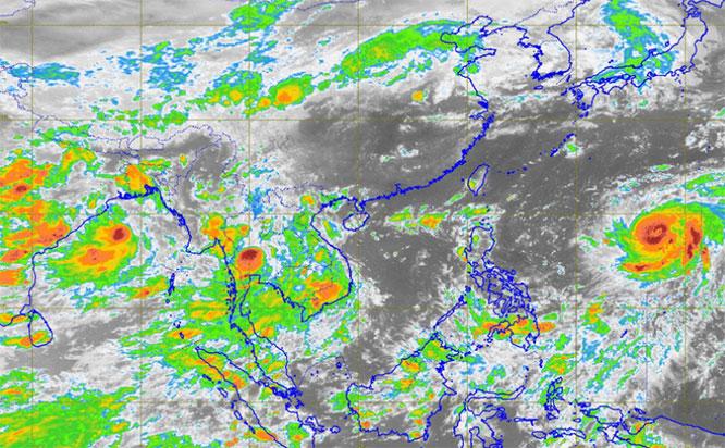 กรมอุตุฯ ประกาศฉบับที่ 8 'เตี้ยนหมู่' ส่งผลไทยยังคงมีฝนตกต่อเนื่อง