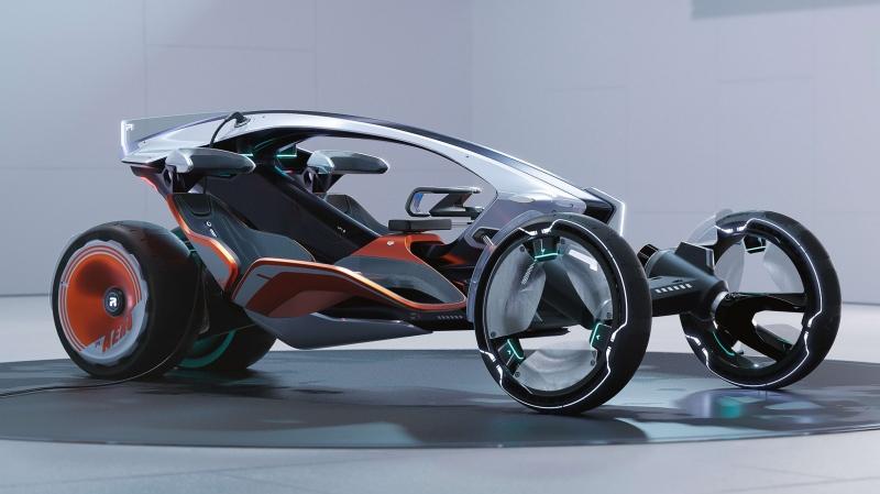 SAIC Design เผยโฉม R RYZR ต้นแบบรถยนต์กึ่งมอเตอร์ไซค์ดีไซน์ล้ำ