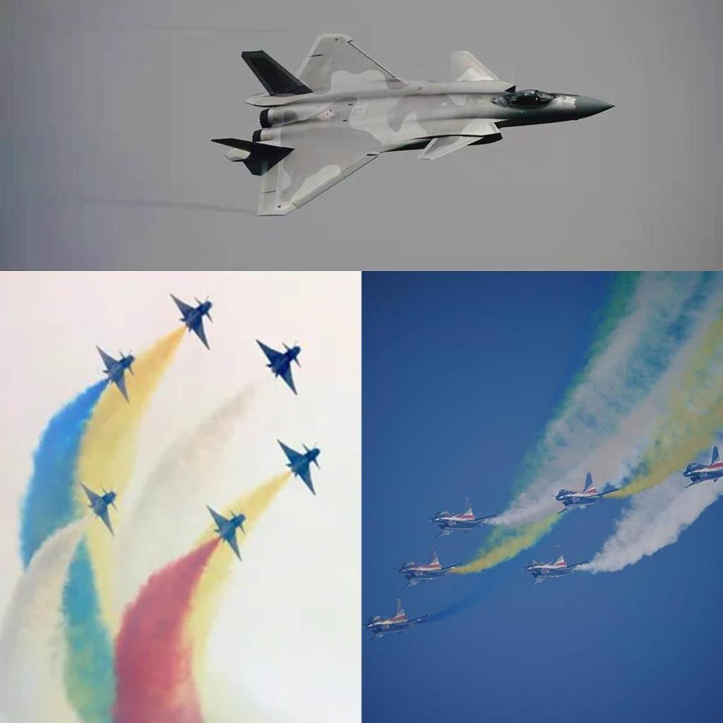 """(ชมคลิป) กองทัพมังกรโชว์ """"สุดยอดเขี้ยวเล็บ"""" ใน แอร์โชว์ ไชน่า ... สเตลท์ J 20, บินขับไล่ J10, และ JL 10  ไฮเทคสุดของจีน"""