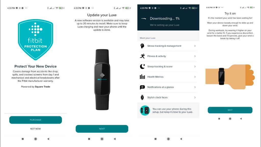 คำชี้แจงละเอียดเมื่อติดตั้ง Fitbit Luxe