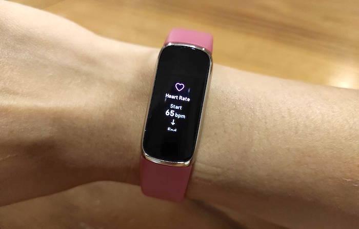 ตัวอย่างการแสดงสถิติอัตราการเต้นหัวใจบนหน้าจอ Luxe