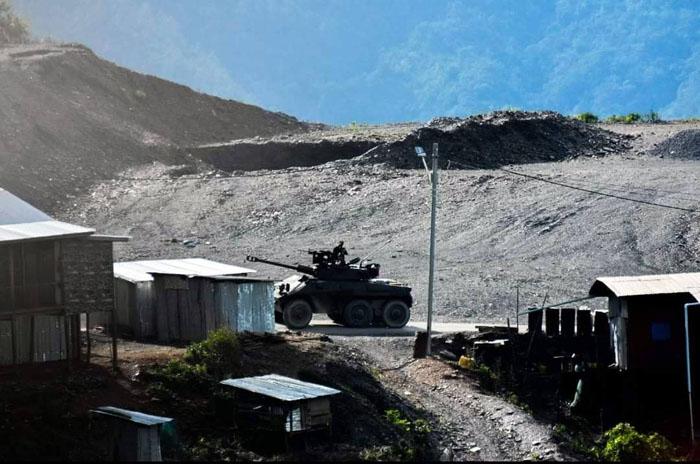 ขบวนรถทหารที่ออกจากเมืองกะเล ภาคสะกาย มีเป้าหมายยังเมืองพะลัม รัฐชิน