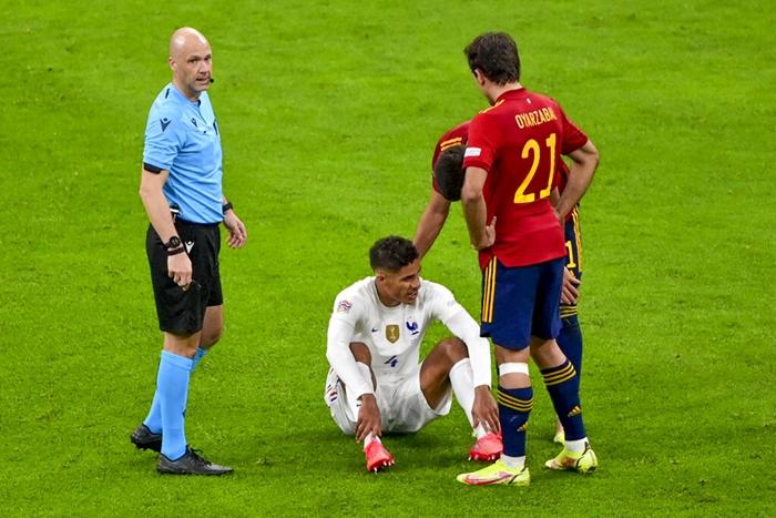 ราฟาเอล วาราน บาดเจ็บเกมทีมชาติ