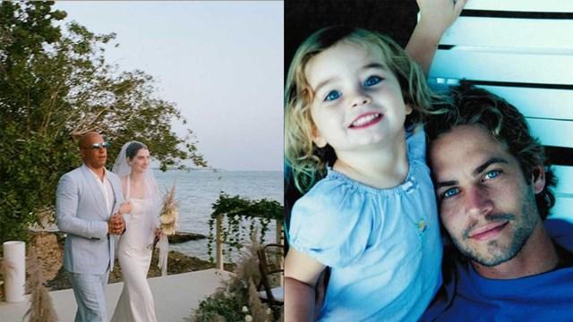 """ครอบครัวเดียวกัน """"วิน ดีเวล"""" ทำหน้าที่พ่อควงลูกสาว """"พอล วอล์คเกอร์"""" เข้าพิธีแต่งงาน"""