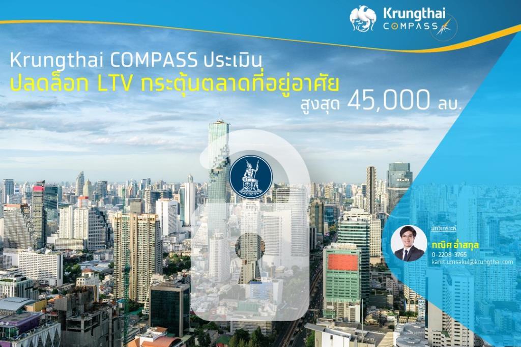 Krungthai COMPASSประเมินผ่อนคลายLTVกระตุ้นตลาดที่อยู่อาศัยราว45,000 ล้าน
