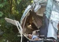 รถตู้คณะกรรมการอิสลามฯ เกิดอุบัติเหตุพลิกค่ำดับ 2 บาดเจ็บ 5